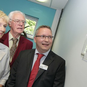 From left: Jennie Gardiner, Roy Ainscough, both previous chief executives of EMFEC, and current chief executive Paul Eeles