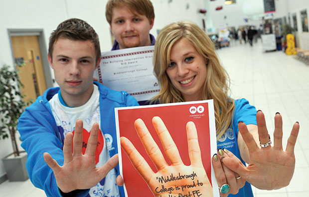 BIG support for Middlesbrough College winning their first anti-bullying award