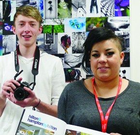 Derbyshire students Josh Geary, 20, and Coral Catullo, 19