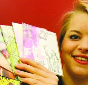 Art and design graduate Lauren Wilson, 23