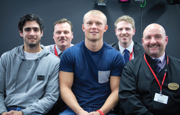 Footballers tackle men's health issues