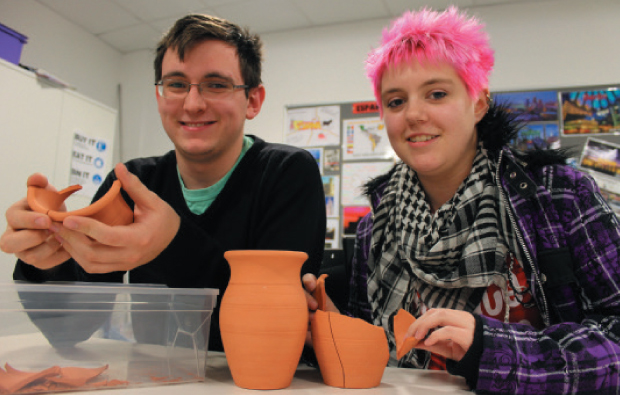 Archaeology students go absolutely potty