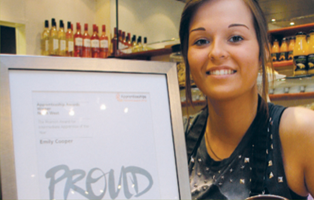 Former Saturday girl wins top award