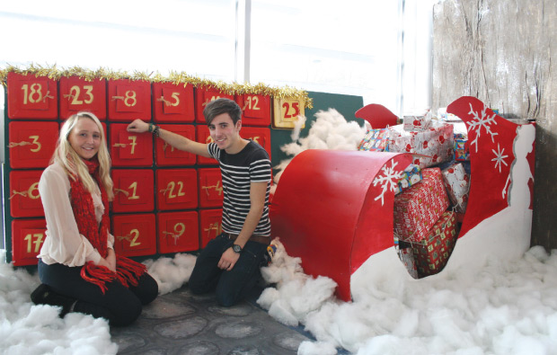 Students become Santa's little helpers