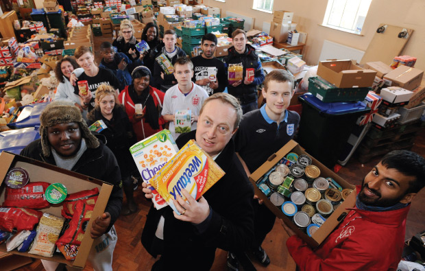Unpacking foodbank's festive fare