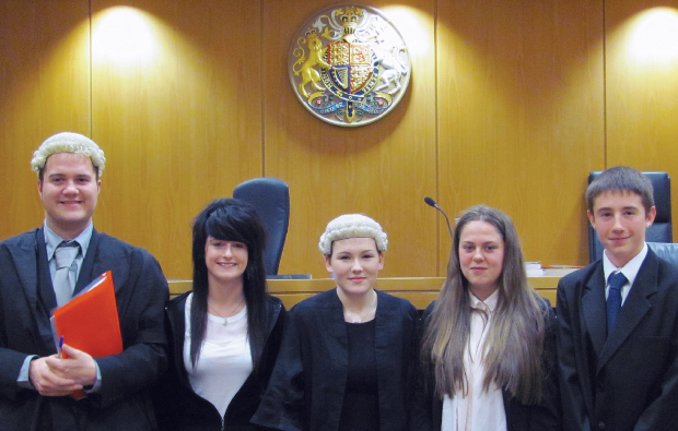 Tough trials at mock court case competition