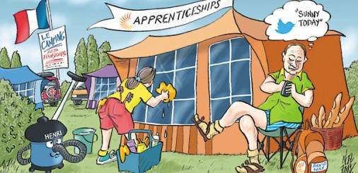 Camping courier apprenticeships get short shrift