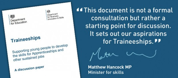 Government reveals plans for traineeships