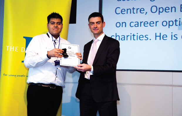 Learner recognised for volunteering efforts