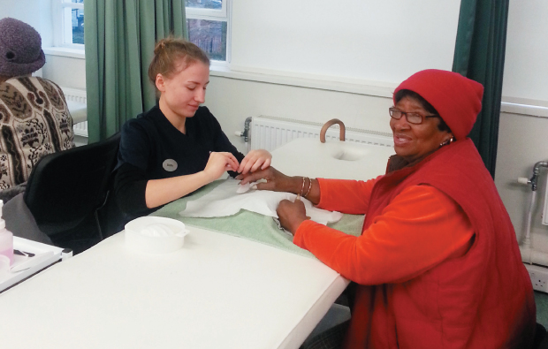 Carers' helping hands get a manicure
