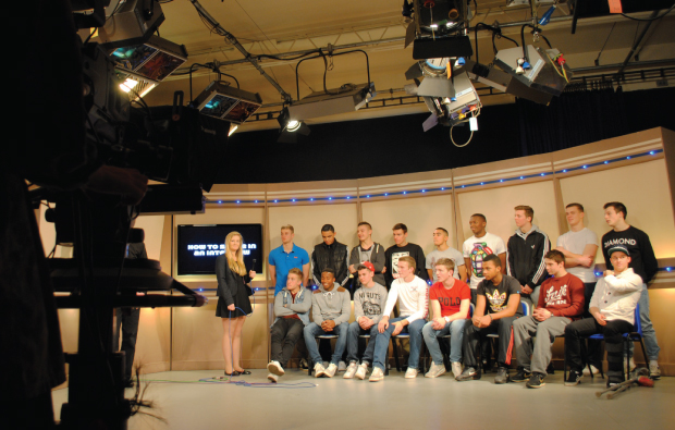 Young athletes in the media spotlight