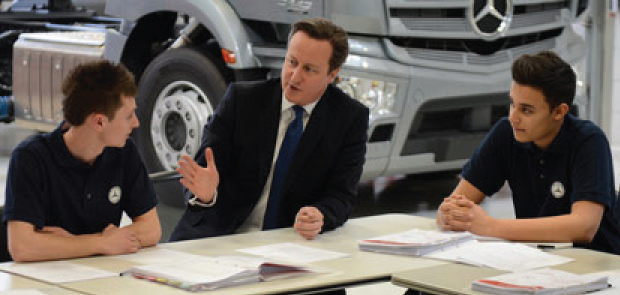 Cut benefits for under 21s to fund three million apprenticeships - Cameron