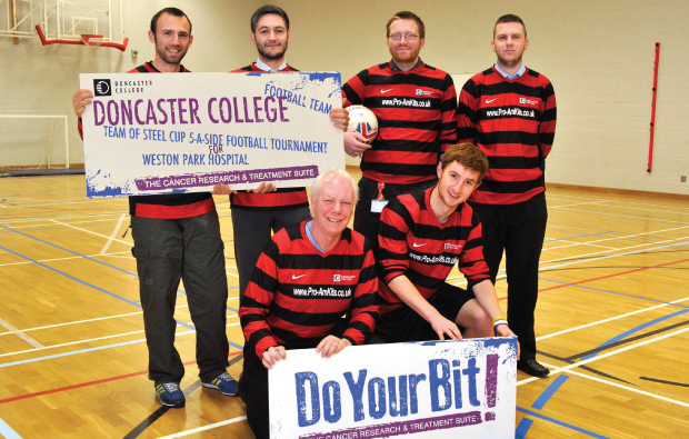 Doncaster College takes on veterans for charity