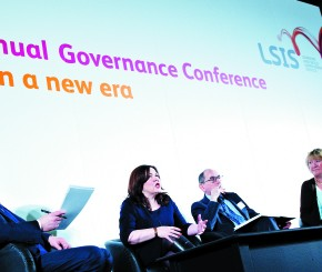Panel from the second day of the conference. From left- Professor Bill Lucas, from the University of Winchester, Kim Thorneywork, chief executive of the SFA, Peter Lauener, chief executive of the EFA and Bobbie McClelland, deputy director at BIS