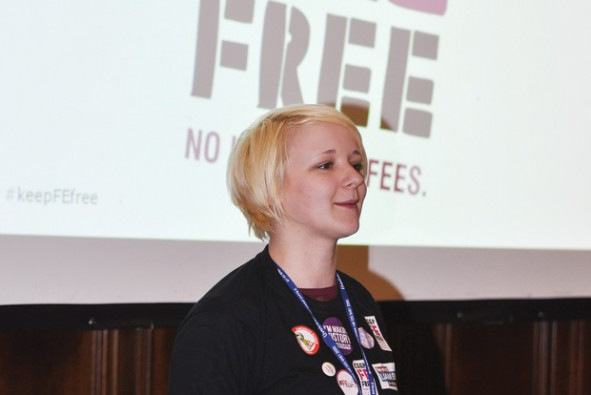 NUS's first FE president Toni Pearce wins second term