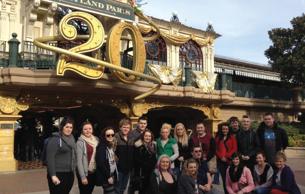 Tourism trip to Disneyland Paris