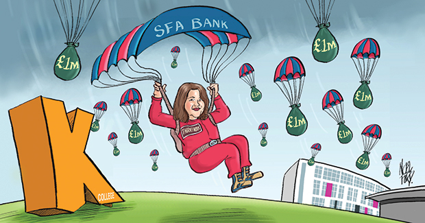 SFA parachutes £15m in to K College