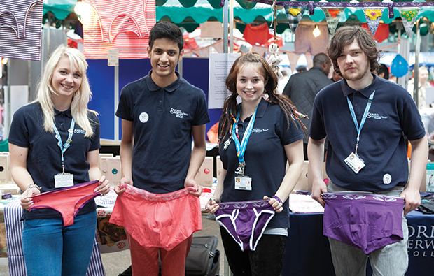 Students stick to their briefs