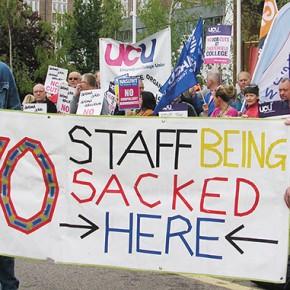 Strikes loom as college job losses announced