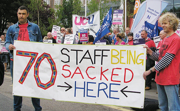 Strikes loom as college job losses announced