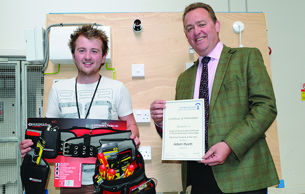 Bright spark powers to electrician prize