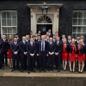 Team UK at Downing Street, Friday, June 28, 2013. Pic: Doug Peters