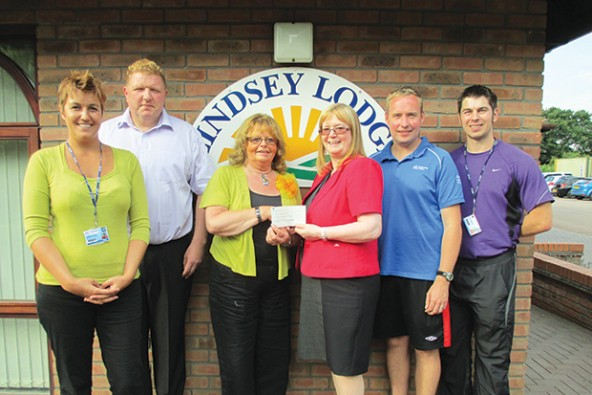College walkers get active for hospice