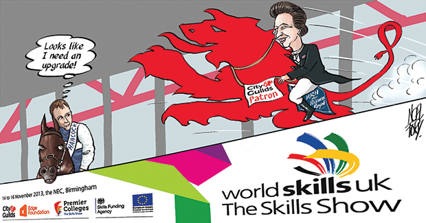 Royal seal of approval for Skills Show