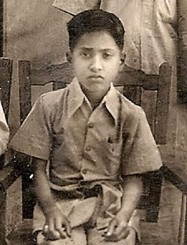 Ameen Hussain when he was nine years old