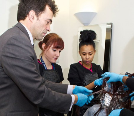 Helping hairdressers is highlight of MP's visit