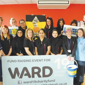 South & City College Birmingham students, staff and ward 19's Sister Kathy Holden.