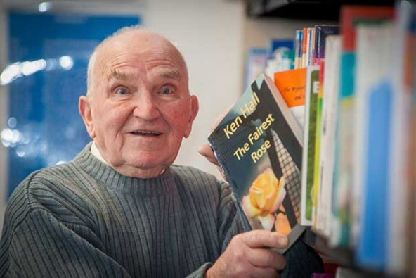 Ken's writes children's stories after finishing computer course aged 80