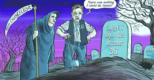 Chancellor Osborne buries hopes of college VAT refund