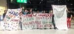 Skills Minister Matthew Hancock greeted by protest at Question Time college