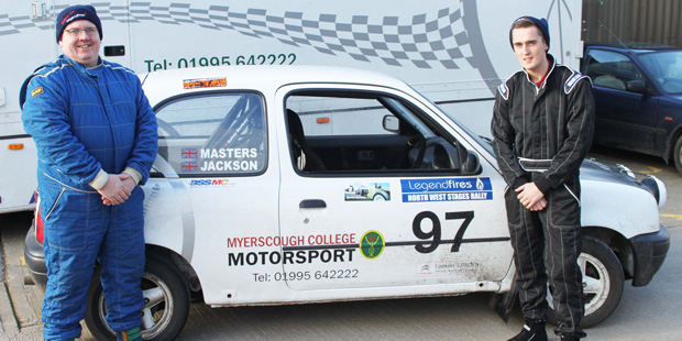 Motorsport team hits top gear for rally