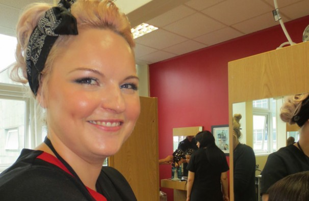 Graduate to hit small screen after becoming hairdresser at college