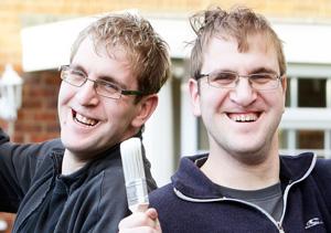 Ionuts (left) and Dumitru Langham