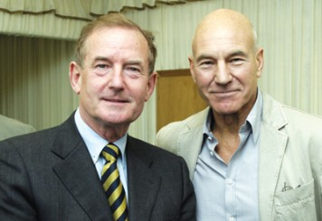 Inset: Sheerman with actor Patrick Stewart, who unveiled part of the John Clare centre in 2009