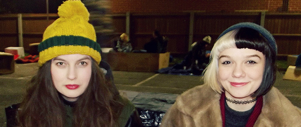 Fundraising students spend night in a cardboard box