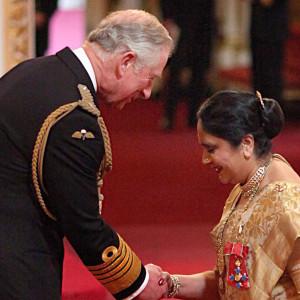 Asha Khemka with Prince Charles