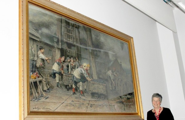 Painting is reminder of mining heritage