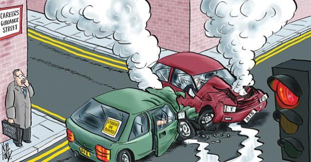 Traffic lights warning on careers guidance progress
