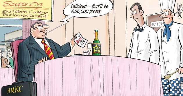 Taxman looks to reissue restaurant bill