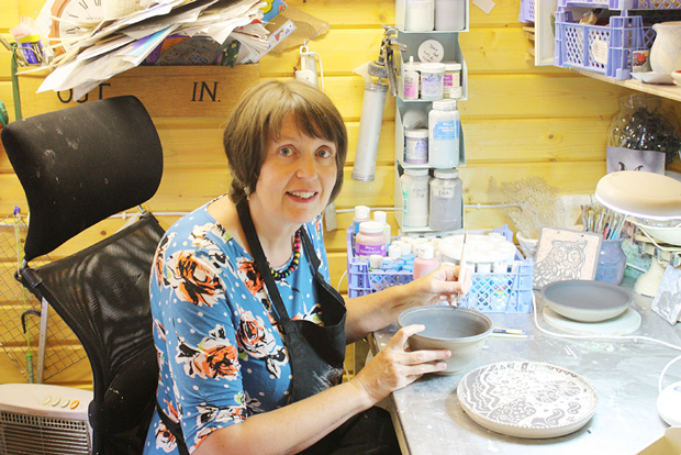 Mandy juggles ceramics with TV debut