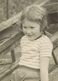 Lorna Fitzjohn pictured as a young girl