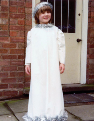 Kathryn, aged 6, dressed as an angel