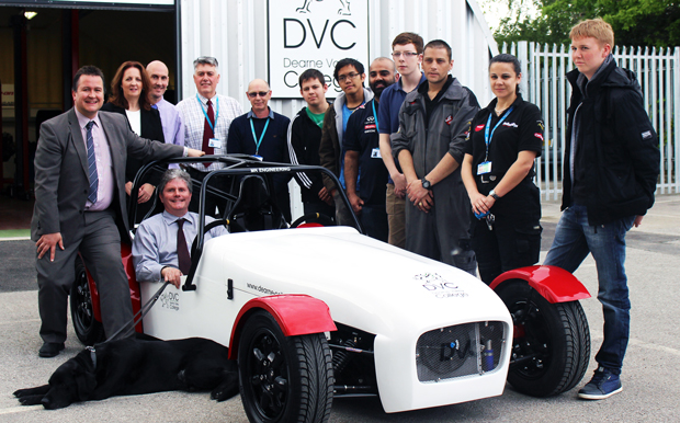 Colleges work together to build and paint racing car for disabled people