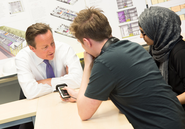 Journalism students interview Prime Minister