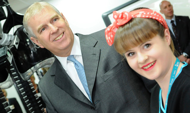 Prince gives royal seal of approval to apprenticeships