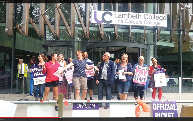 Striking Lambeth College staff return to work just days before holiday